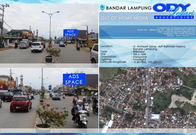 Jl. Antasari (simp. Arif Rahman Hakim) - Bandar Lampung