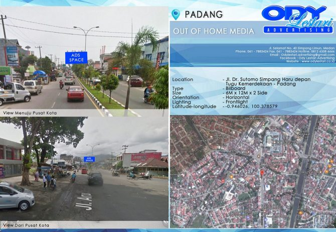 Jl. Dr. Sutomo Simpang Haru depan Tugu Kemerdekaan, Padang