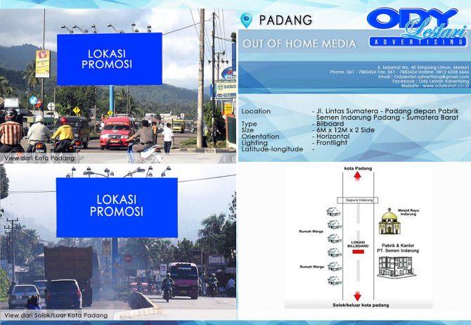 Jl. Lintas Sumatera - Padang depan Pabrik Semen Indarung Padang - Sumatera Barat