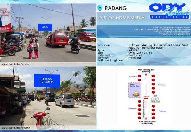 Jl. Raya Indarung depan Pasar Bandar Buat - Padang Sumatera Barat