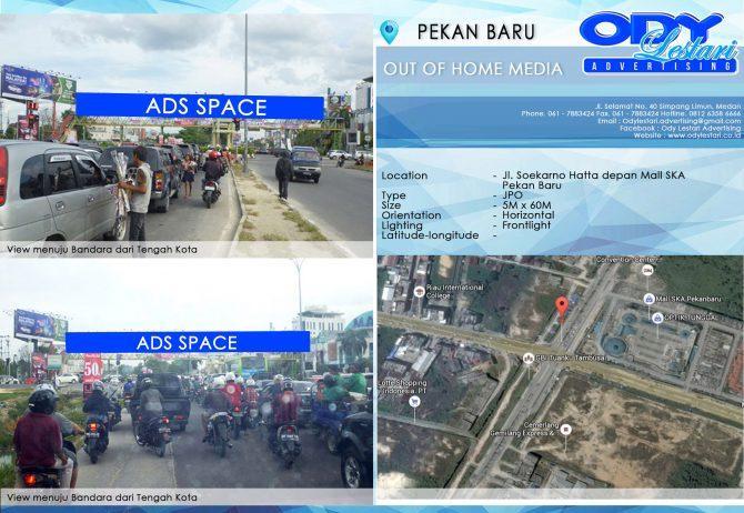 Jl. Soekarno Hatta depan Mall SKA Pekan Baru 5x60