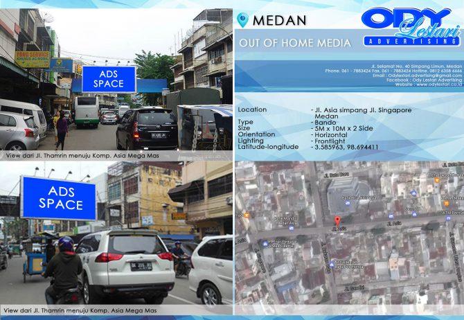 Jl. Asia simpang Jl. Singapore - Medan