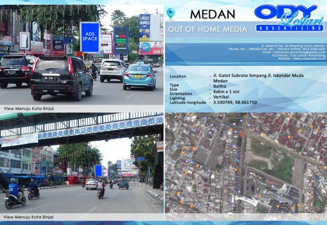 Jl. Gatot Subroto Simpang Jl. Iskandar Muda, Medan
