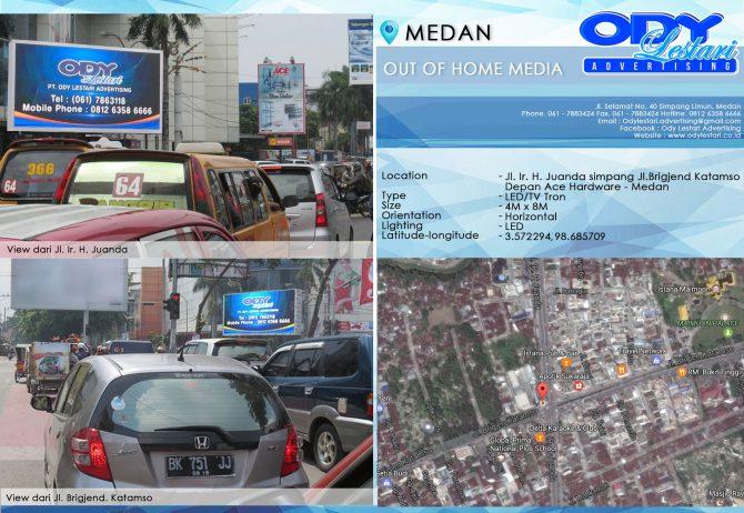 Jl. Ir. H. Juanda simpang Jl. Brigjend Katamso (Depan Ace Hardware) - Medan
