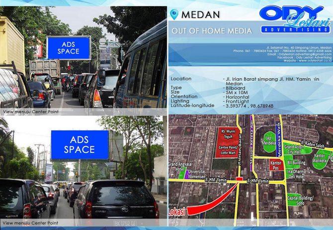 Jl. Irian Barat simpang Jl. HM. Yamin Medan (2)