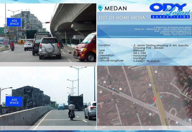 Jl. Jamin Ginting simpang Jl. AH. Nasution (Simpang POS) Medan