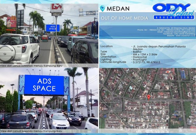 Jl. Juanda depan Perumahan Polonia Medan