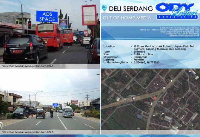 Jl. Lintas Medan - Tanjung Morawa, Depan Pintu Tol Tanjung Morawa, Deli Serdang