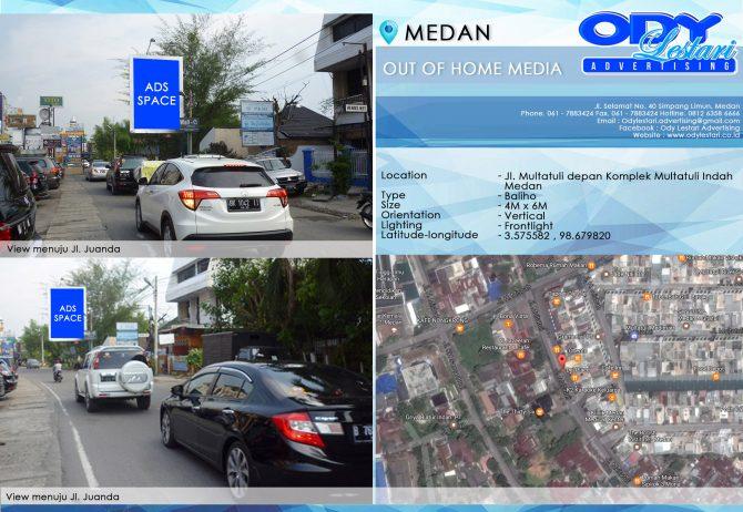 Jl. Multatuli depan Komplek Multatuli Indah - Medan