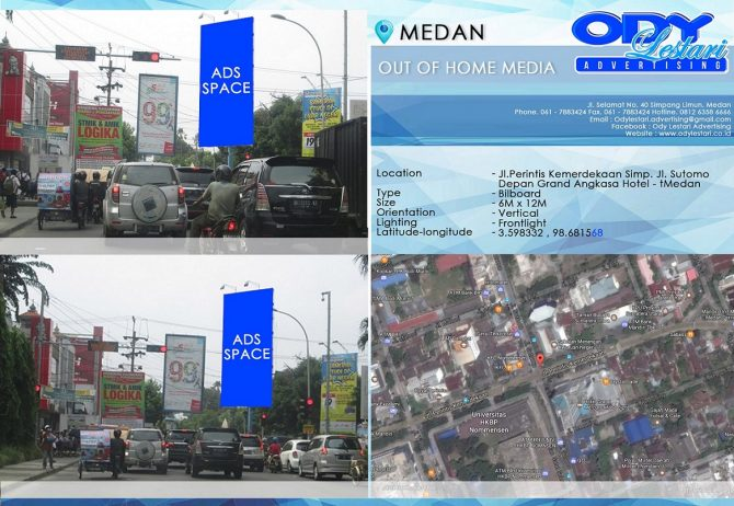 Jl. Perintis Kemerdekaan Simpang Jl. Sutomo Medan (Depan Grand Angkasa Hotel) Medan