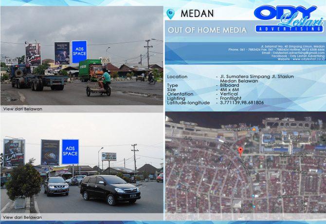 Jl. Sumatera Simpang Jl. Stasiun, Medan Belawan