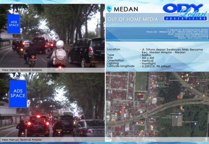 Jl. Tritura depan Swalayan Maju Bersama Kec. Medan Amplas