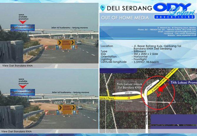 [KODE CENDANA] Jl. Besar Batang Kuis, Gerbang Tol Bandara KNIA Deli Serdang